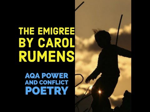 Analysing The Emigree by Carol Rumens
