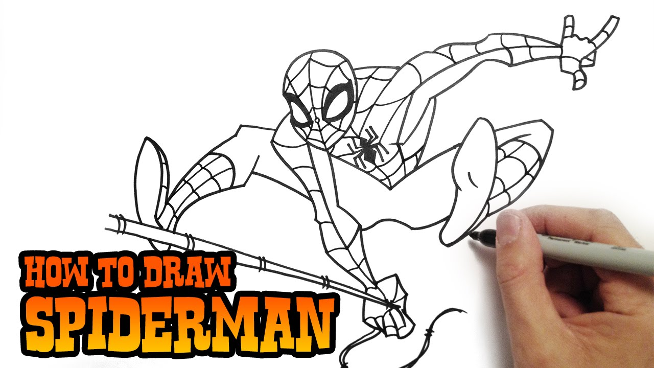 How to draw spiderman super easy video lesson doovi for Super easy drawings