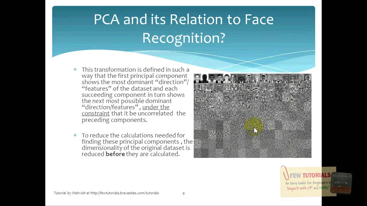 What is PCA (explained from face recognition point of view)