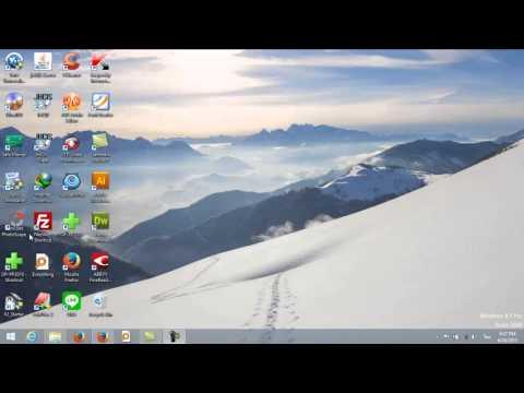 การปรับเปลี่ยนขนาด Icon บนหน้าจอในโปรแกรม WINDOWS 8 ภายใน 3 คลิก