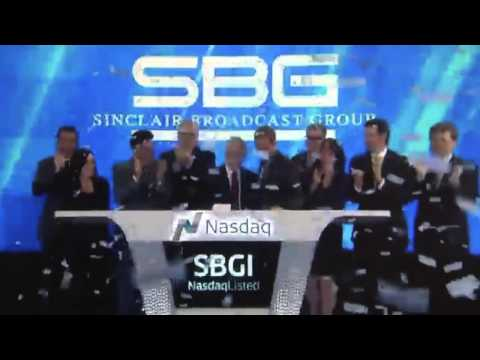 Sinclair Broadcasting Group ringing the NASDAQ closing bell