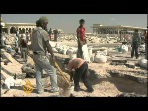 Gaza airport destroyed by scavengers