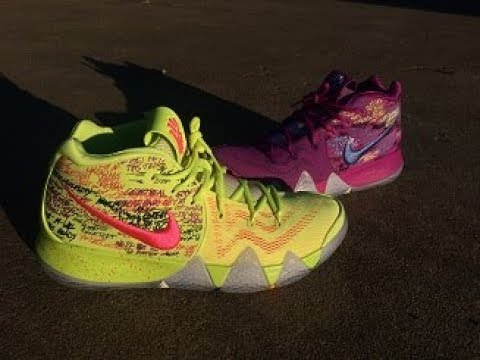 c50b1cdd6bef KYRIE 4 CONFETTI REVIEW + ON FEET!!! - YouTube