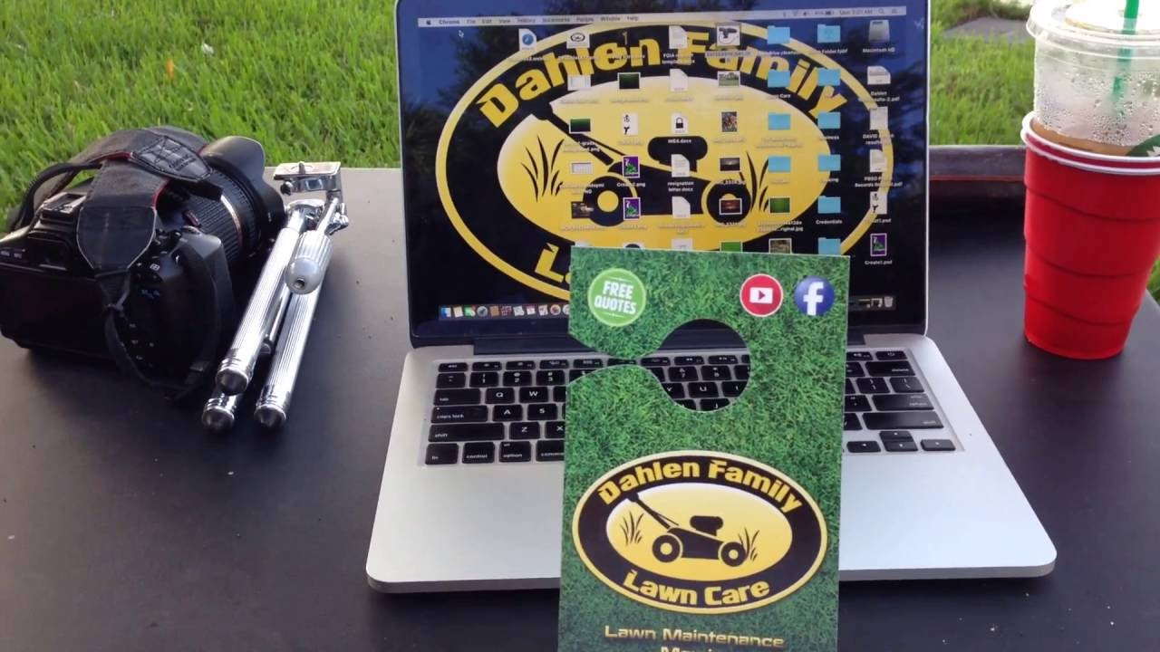 Business Cards, Door Hangers, & Website - Lawn Care -Vlog #5 - YouTube