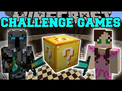 Minecraft: PAT VS JEN CHALLENGE GAMES - Lucky Block Mod - Mo