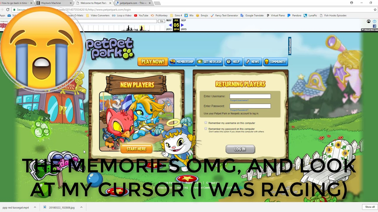 WENT BACK IN TIME TO SEE OLD PETPET PARK! - YouTube