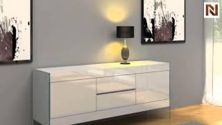 Modern White Floating Sideboard Vgceparkerm2552 From Vig Furniture
