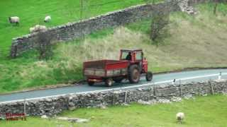 Massey Ferguson 575 Seen on Road nr. Kirkby Stephen.