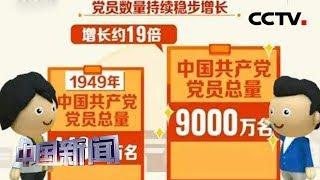 [中国新闻] 中国共产党最新党内统计数据发布 | CCTV中文国际