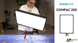 Nanlite COMPAC 200 Luce Studio 16700 LM Con Staffa U Video