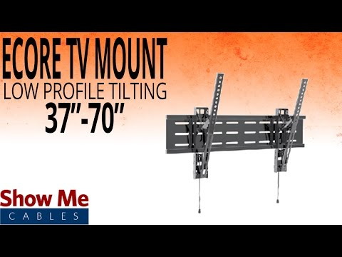 How To Install A Low Profile Tilting TV Mount For TV's Between 37