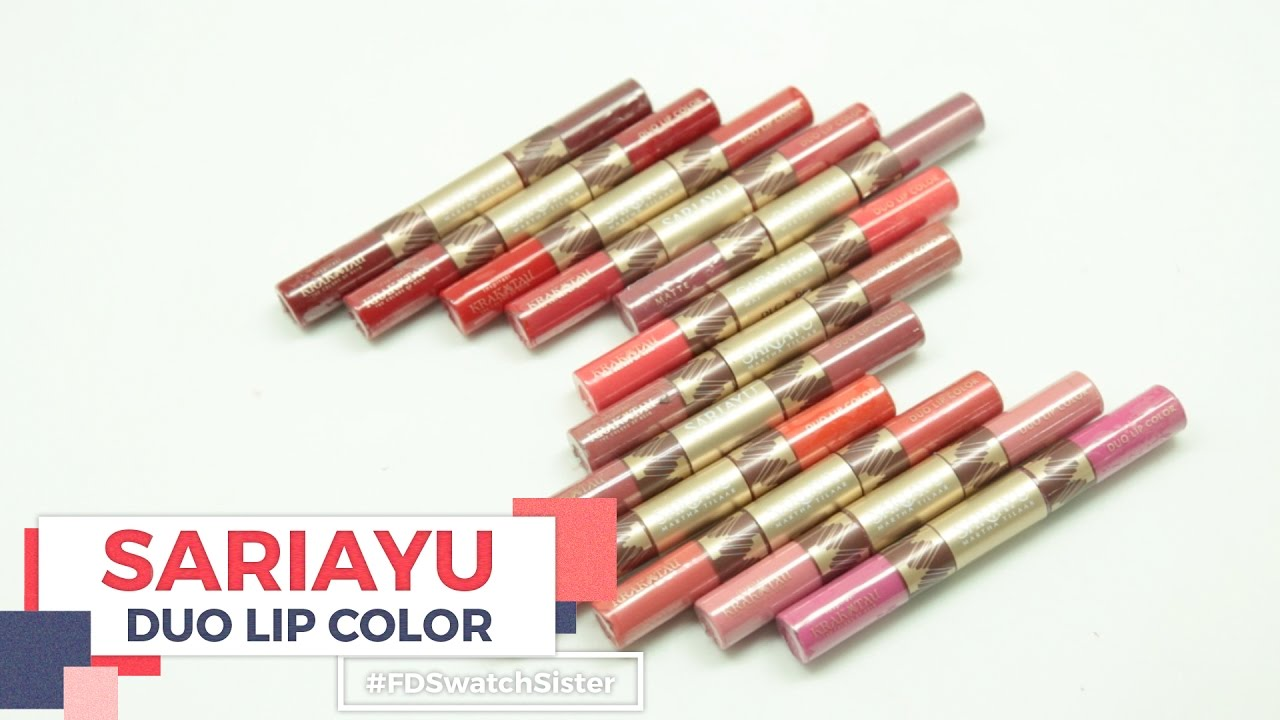 Sariayu Color Trend 16 Duo Lip K 07 Lihat Daftar Harga Gili Lombok Review Swatches Fd Swatch Sister