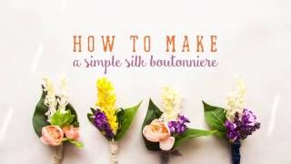 How to Make a Wedding Boutonniere    Silk Flowers    DIY