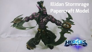 I made a Papercraft Model of Illidan Stormrage (Warcraft/Heroes of the Storm)