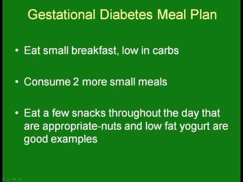 Treatment of Gestational Diabetes With Diet and Exercise