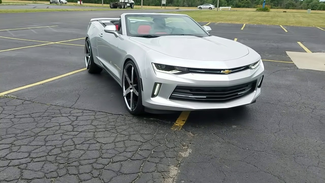2016 Camaro On 24 Lexani Concave Staggerd Pt2 Top Down