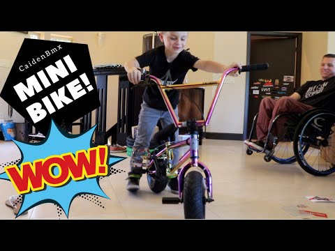 I got an Oil Slick Fatboy Mini BMX Bike!!!