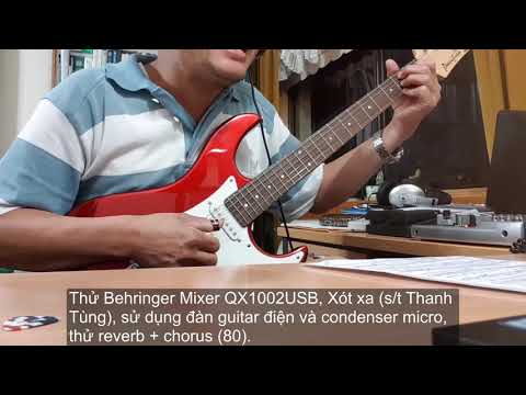 Behringer Mixer QX1002USB Xót xa (Thanh Tung) - Vlog #229