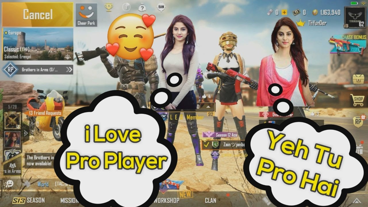 Joining Random Squad Of Girls👩👩👧 Like A Bot | Funny Gameplay | PUBG Mobile