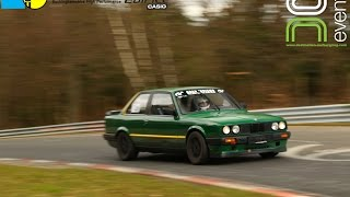 BMW E30 318is on the Nürburgring VLN layout, first lap of #DN11 (pedal cam)