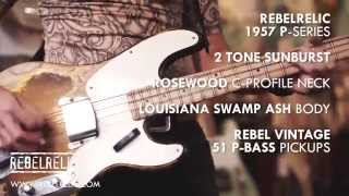 1957 2 Tone Sunburst P-Bass | RebelRelic Guitar Showcase