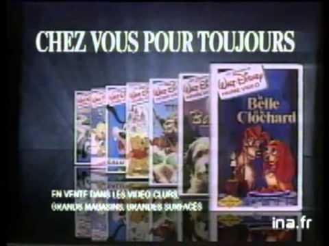 Publicité VHS Disney La Belle et le Clochard poster