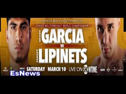 Mikey Garcia Vs Sergei Lipinets Full Media Call EsNews Boxing
