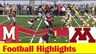 Minnesota Vs Maryland Football Game Highlights 10 30 2020