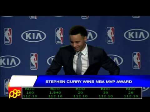 Stephen Curry wins NBA MVP award