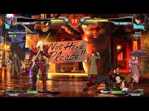 GUILTY GEAR Xrd REV2 BlackSnake(Venom) Vs. JuicyG(Sol) Match 2