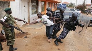 Gunfire in Kampala as security forces quell protests over Bobi Wine detention