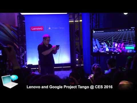 Lenovo and Google Project Tango phablet @ CES 2016
