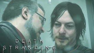 Deadman Uncomfortably Explains a Conspiracy Theory to Sam in the Shower - DEATH STRANDING