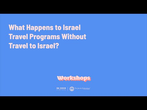 What Happens To Israel Travel Programs Without Travel To Israel?