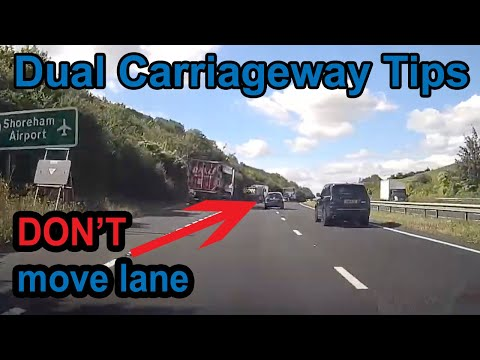 UK dual carriageway tips   DON'T change lanes there!!