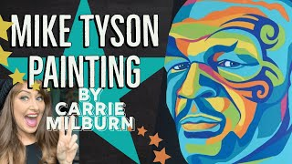 Mike Tyson Painting by Carrie Milburn