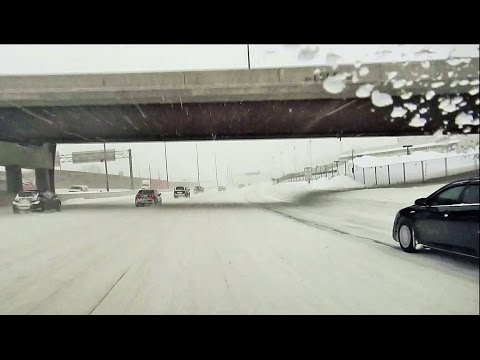 Dashcam - Major Snow Storm in Ottawa - Downtown and Highway (with music)