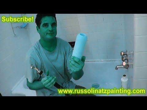 diy how to clean paint roller cover sleeve latex paint youtube. Black Bedroom Furniture Sets. Home Design Ideas