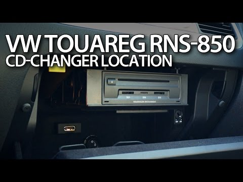 VW Touareg II CD changer location (RNS-850 CDC, Volkswagen 7P5 )