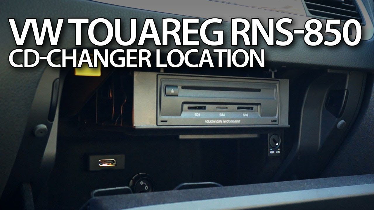 vw touareg ii cd changer location rns  cdc volkswagen p youtube