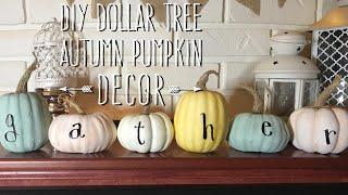 DIY Dollar Tree Farmhouse Autumn Pumpkin Decor with 6 Different Stem Ideas