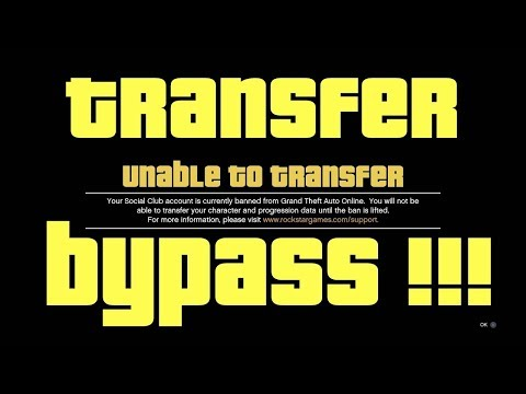 I FOUND A WAY TO BYPASS CHARACTER TRANFER IN  GTA 5 FOR ALL CONSOLE (XBOX ONE,PS4,PS3,XB360,PC)
