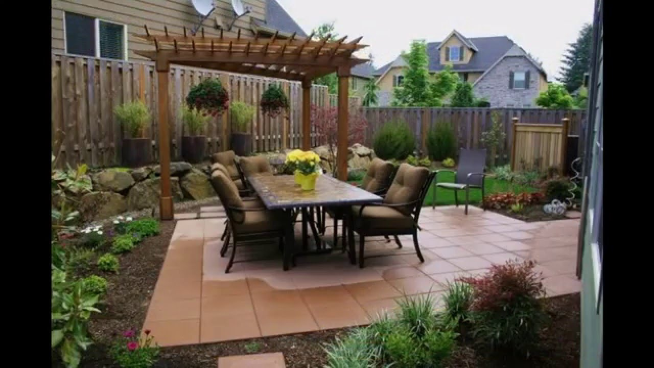 garden ideas landscape designs for small backyards pictures gallery youtube - Patio Design Ideas For Small Backyards