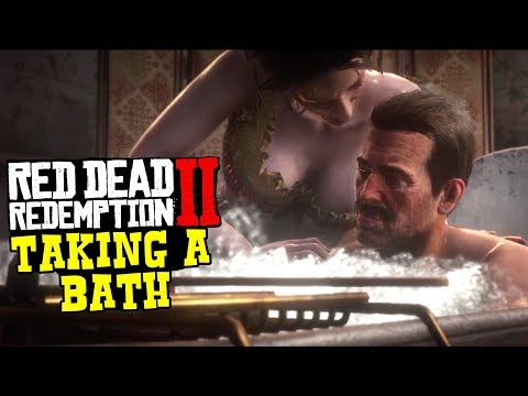Red Dead Redemption 2 - Arthur Morgan Taking A Deluxe Bath