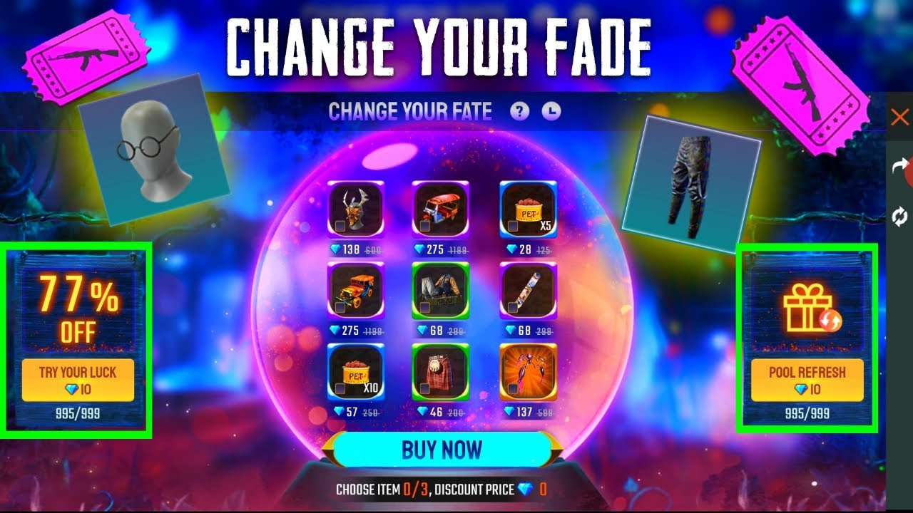 New Event | Change Your Fade Event Full Details | Upto 80% Discount | Free Fire New Event