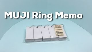 MUJI Key Ring Memo Block