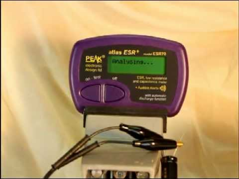 ATLAS ESR70 ESR/Capacitance meter demonstration