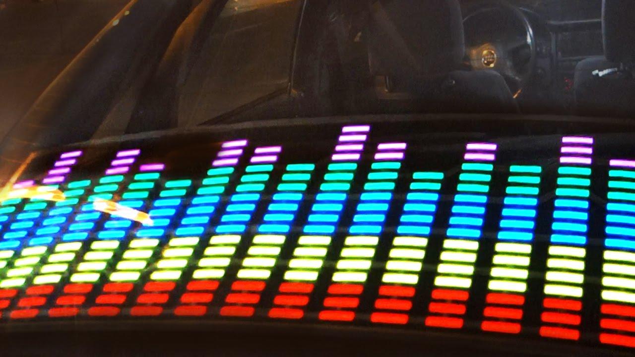 DE MUSICAComo un en el LA instalar LED Coche Ecualizador LUCES AL RITMO l1JKFc