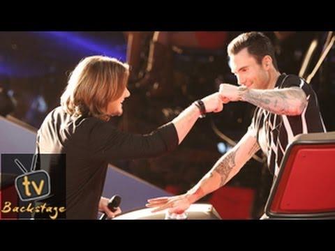 The Voice Season 6 Usa Adam Levine Steals Morgan Wallen From Usher Youtube