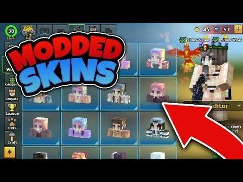 PIXEL GUN 3D BEST MODDED SKINS!!